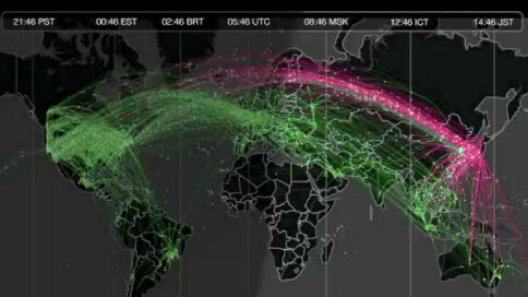 Twitter shows off the worldwide flow of Tweets with visualizations