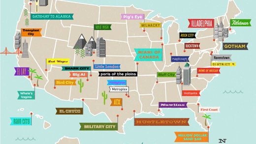 American Geography According to Twitter [Infographic]
