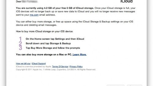 If you use up your iCloud storage, you'll stop getting email