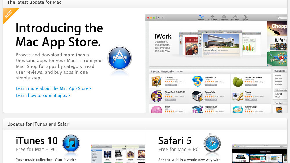 The Mac App Store claims its next victim, the Software Downloads page