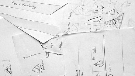 Visualizing SMS messages using paper airplanes