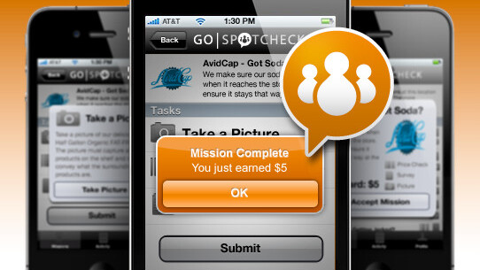 GoSpotCheck: Take pictures of groceries, get money. Well then, that's simple.