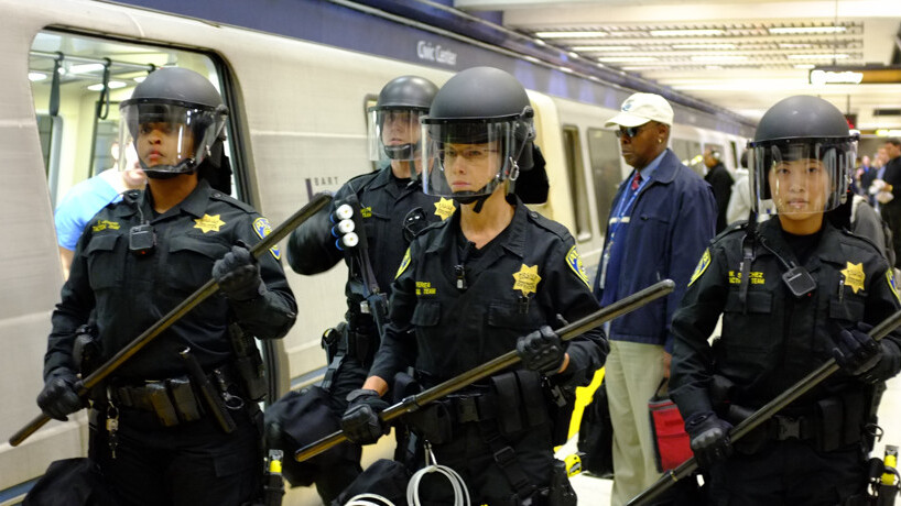 Anonymous protesters go after BART. This time OFFline. [Video & Photos]