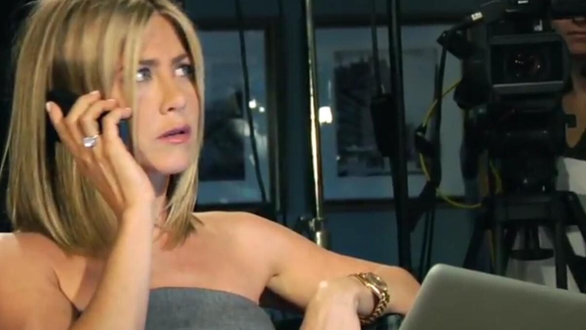 "Ben Stiller uses ""naked"" Jennifer Aniston to promote his new Facebook campaign"