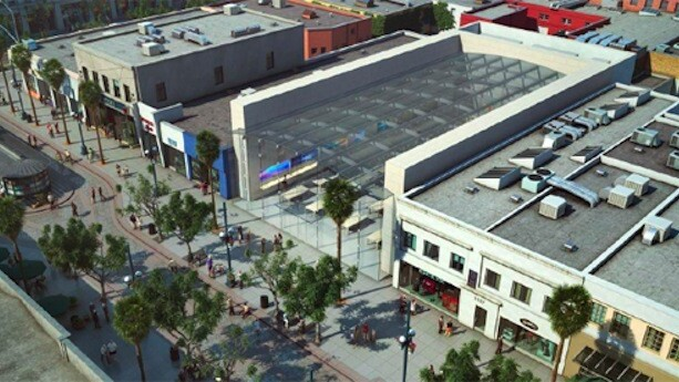 Apple's proposed Third Promenade store features a glass roof and front