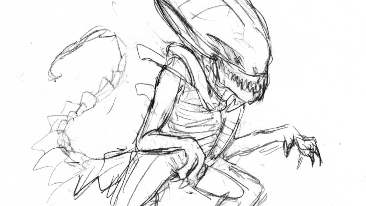 The very first digital drafts of the reddit alien