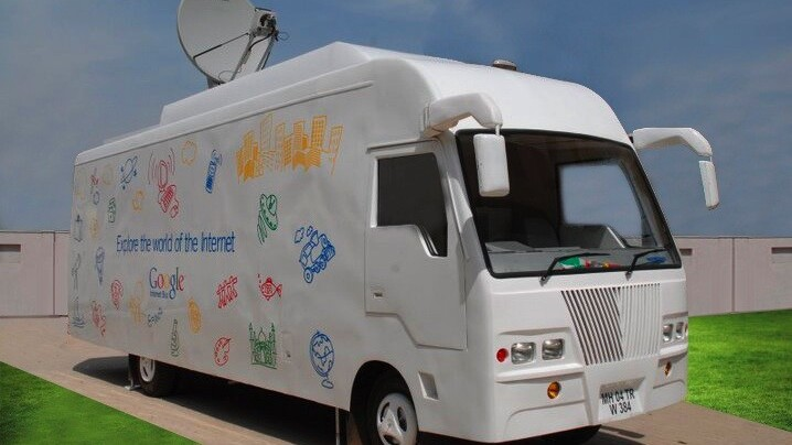 Google's Internet Bus enables 1.5 million first-timers to discover the Internet in India