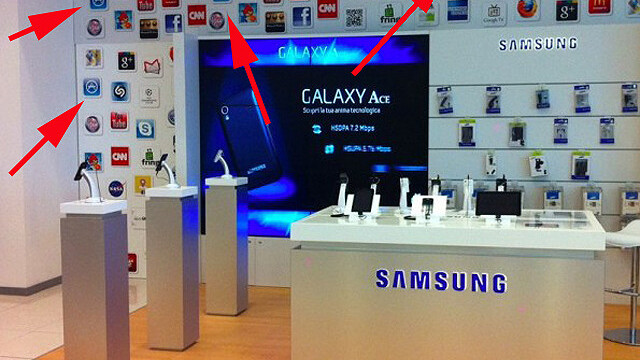 Who copies who? Samsung store display re-uses Apple icons
