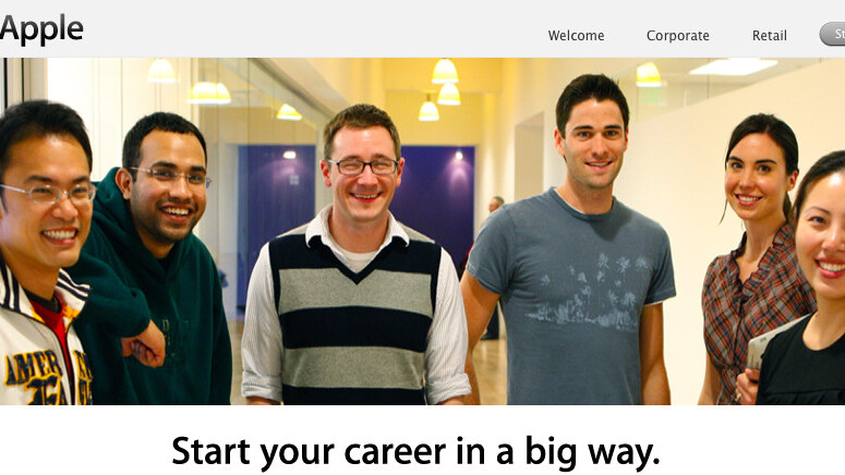 Apple's new 'Student Jobs' website: Offering internships to students and jobs to graduates