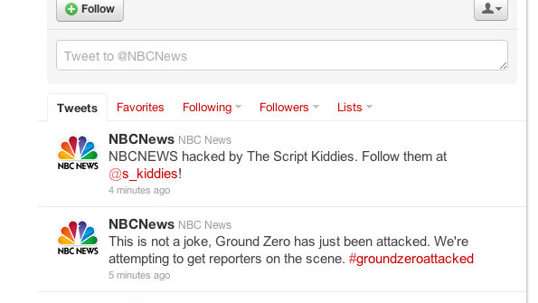 Hacked NBC Twitter account sending out false reports of Ground Zero terrorist attack [Updated]