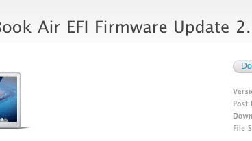 Apple drops EFI Firmware update 2.1 for MacBook Airs, preps for Thunderbolt Displays