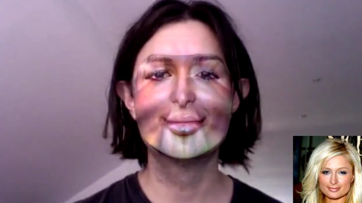 Realtime face cloning technology? It's freaky.