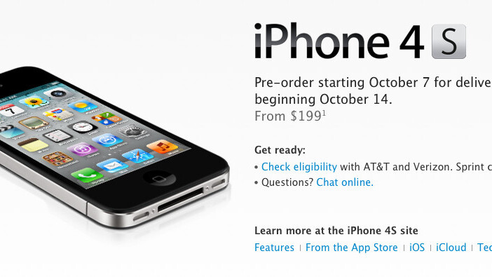 Apple's iPhone 4S officially coming to Sprint for $199 16GB, $299, 32GB and $399 64GB