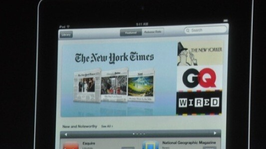 Apple announces NewsStand partners: New York Times, Wired, National Geographic and more