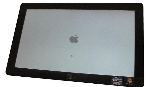 OS X Lion running (sort of) on a Samsung Series 7 tablet