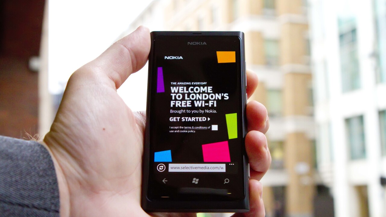 Nokia launches 26 free WiFi hotspots in London, plans citywide rollout