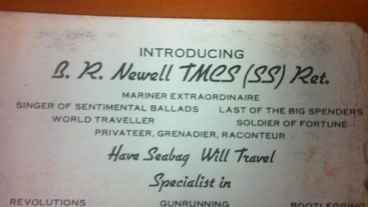 Gunrunner, Raconteur, Mariner Extraordinaire: The Best Business Card of All Time