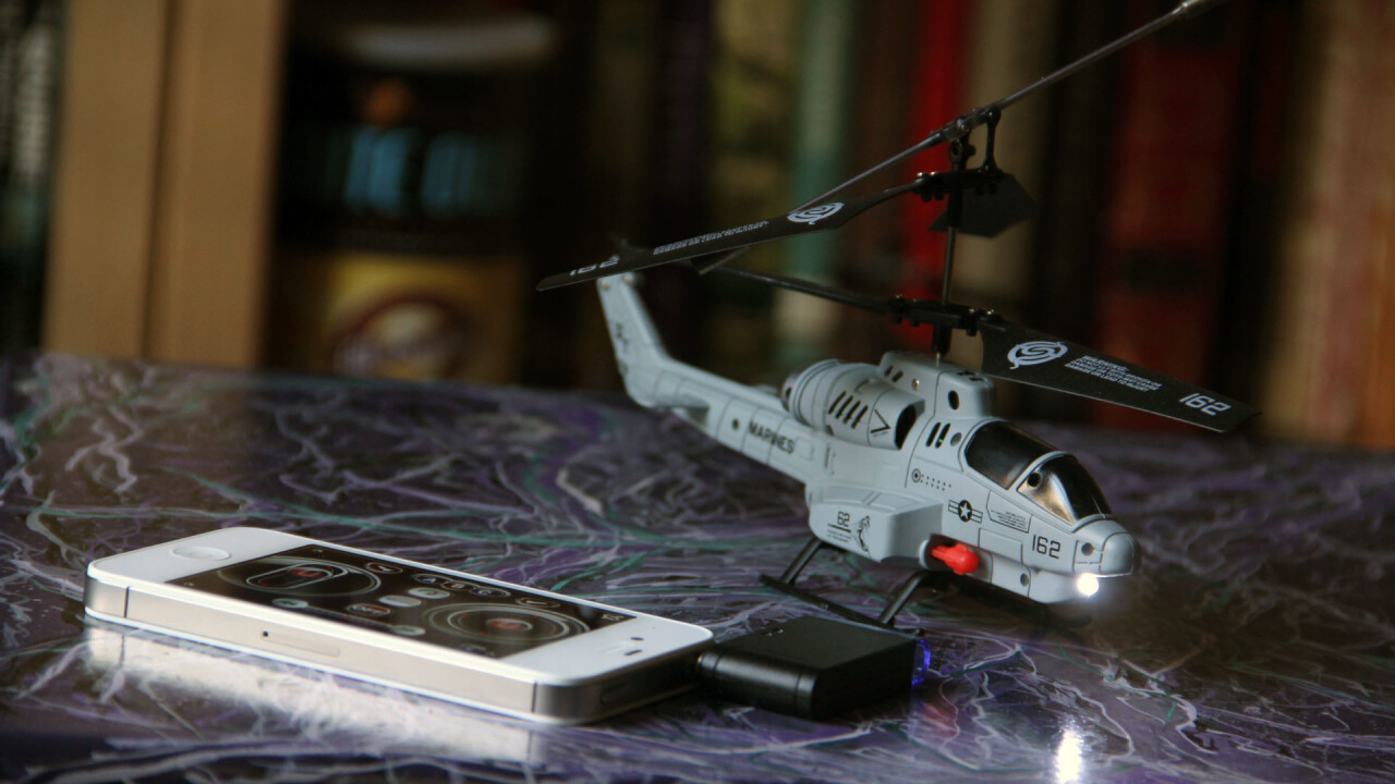 The smartphone-controlled iHelicopter is great fun, but don't expect precision aerobatics