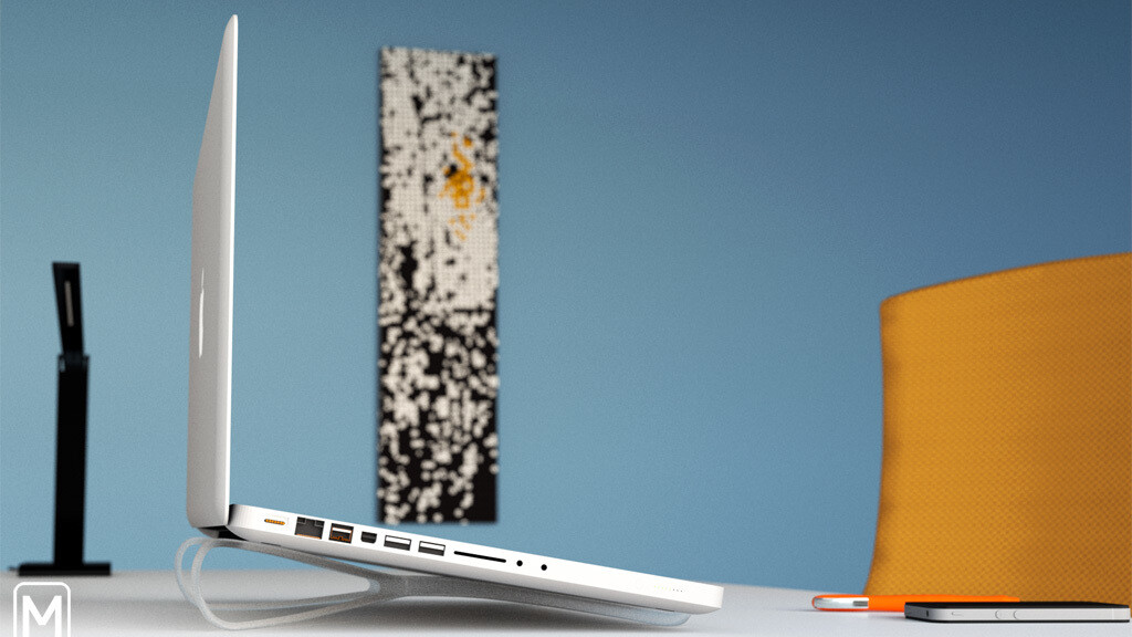 """You'll want this: """"The Prop"""", a smart, portable laptop stand"""