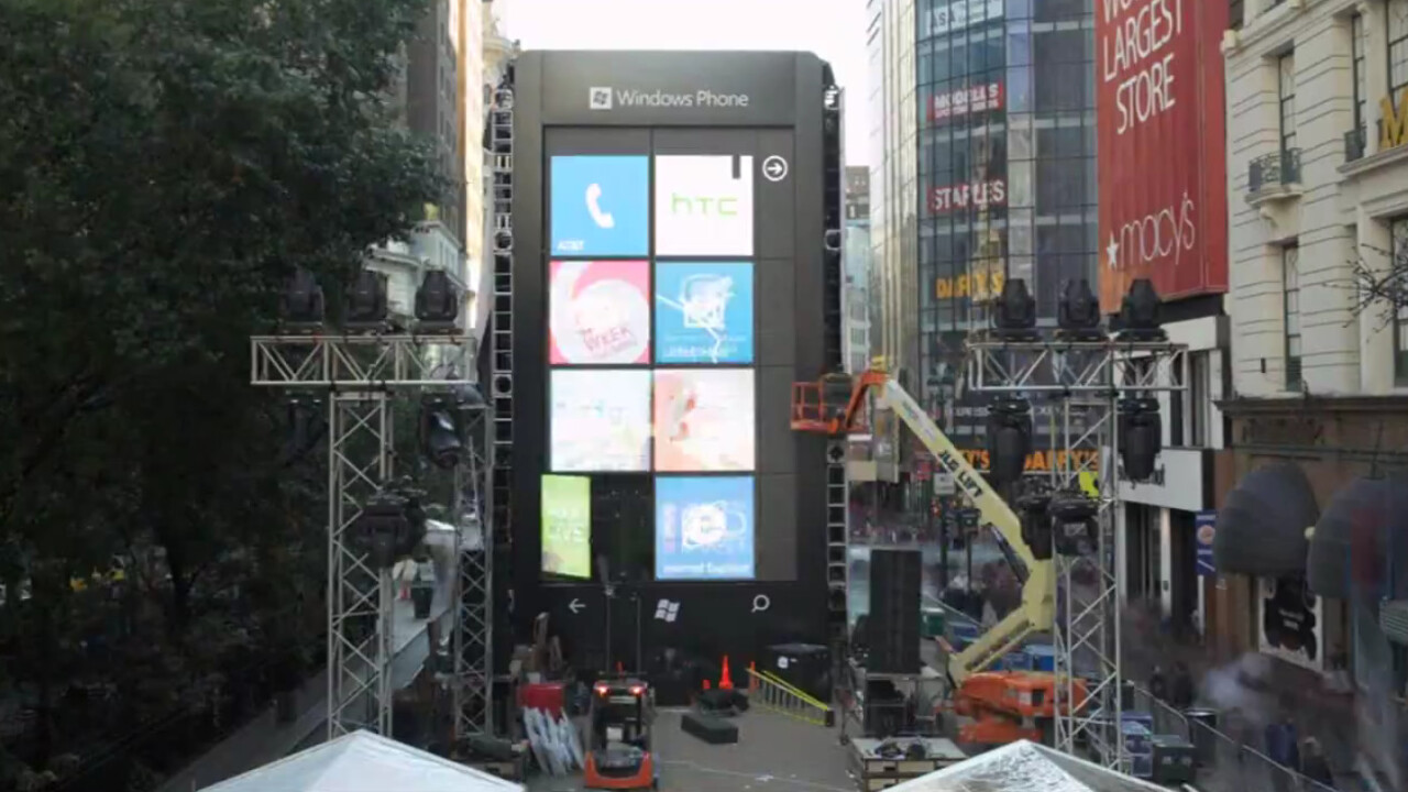 Microsoft builds a 6-story Windows Phone in NYC, shows us how [Video]