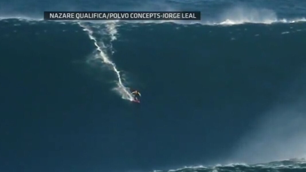 Surfer breaks the world record riding a 90-foot wave [Video]