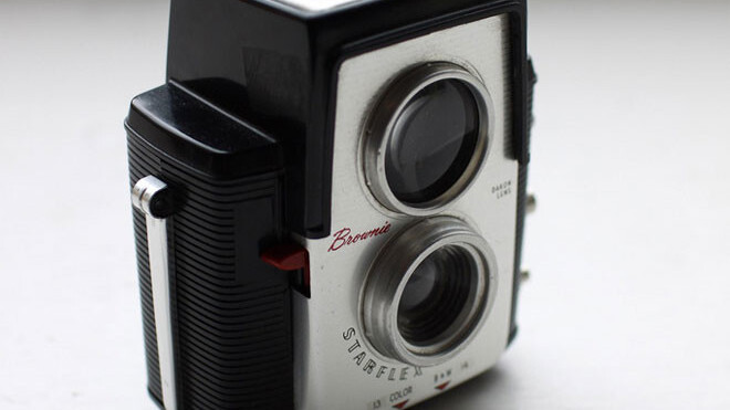Add some retro flavor to your space with these vintage-camera nightlights