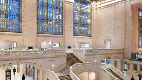 Apple posts gyro-enabled 360 pano view of Grand Central NYC store, viewable on iDevices