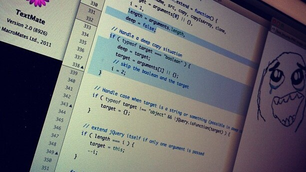 """Screenshot of TextMate 2 alpha is the """"most Tweeted"""" photo on Instagram today"""