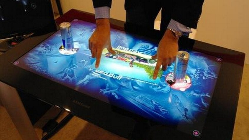 Huge multitouch tables: CES's newest fad