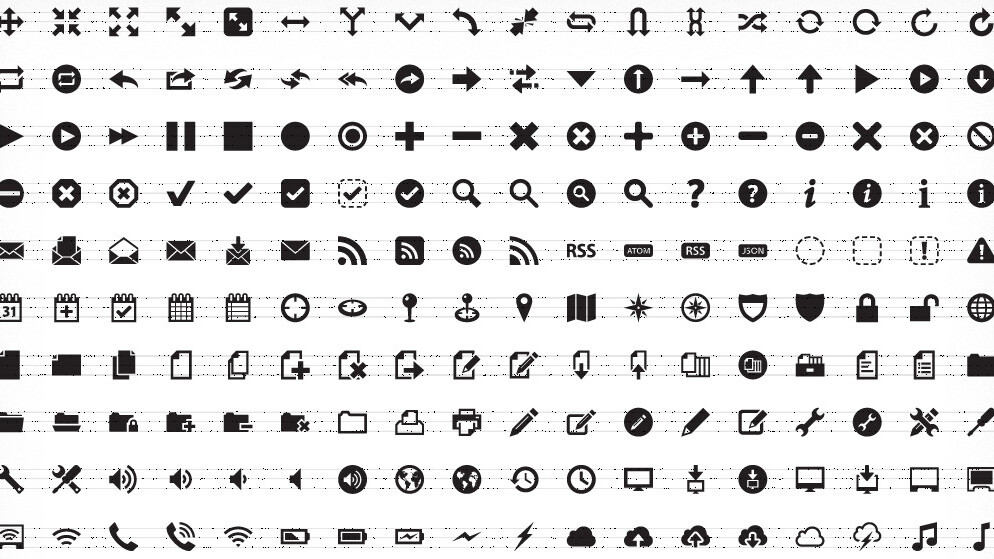 Pictos is like Typekit for your UI with over 650 icons to play with