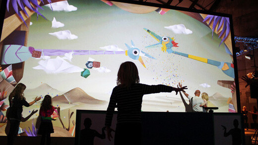 Puppet Parade is an installation that turns your hands into giant, animated puppets