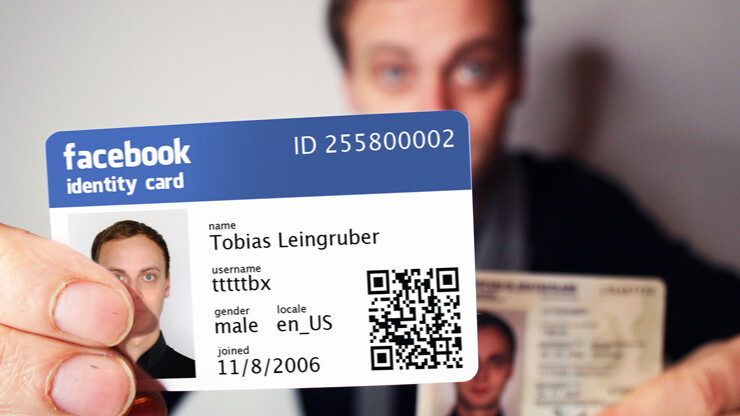 This guy is getting a jump on the future by creating his own Facebook ID cards