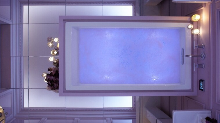 Your shower sucks. Meet the bathtub that dances to music while changing the moodlights