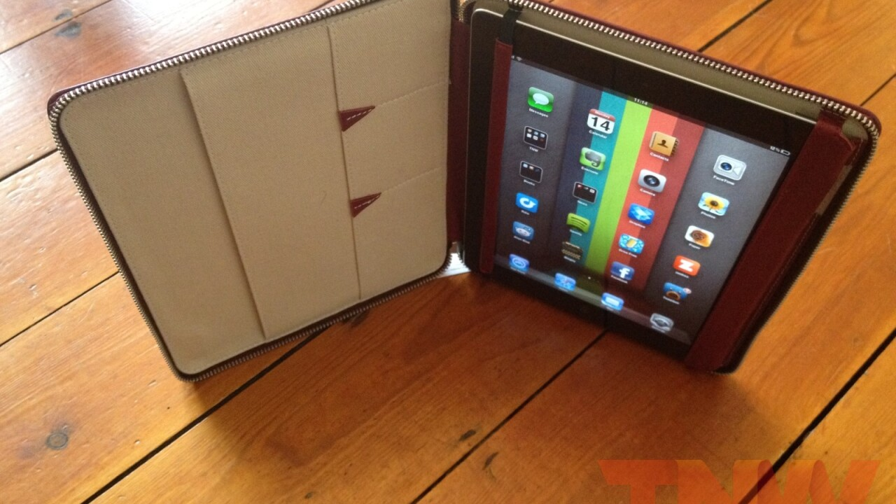 Review: Lacambra's stylish, elegant leather case positions your iPad any way you want it