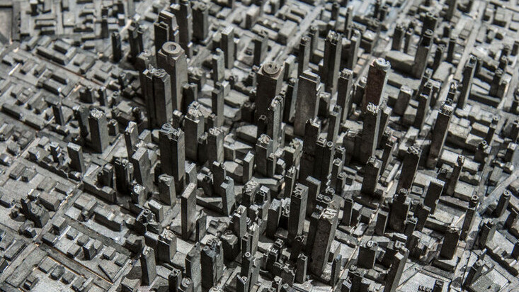 This artist made a city out of movable type