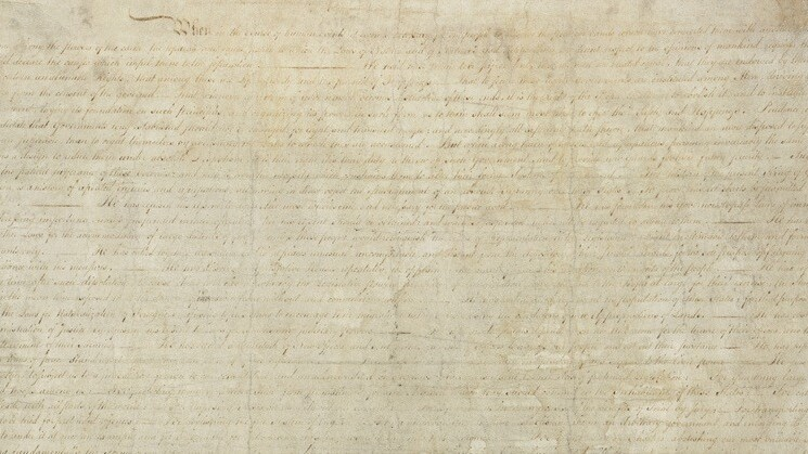Facebook accidentally flagged the Declaration of Independence