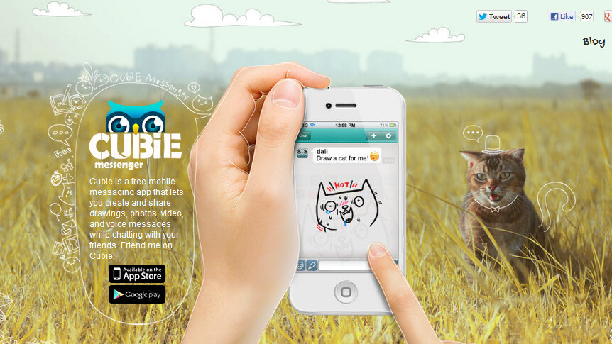 Multimedia messaging app Cubie now lets you create and share your own stickers