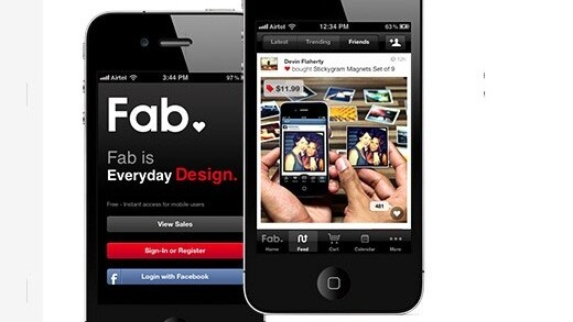 Social shopping site Fab upgrades mobile experience for its 5.5m users with Live Feed and more, adds Facebook Connect