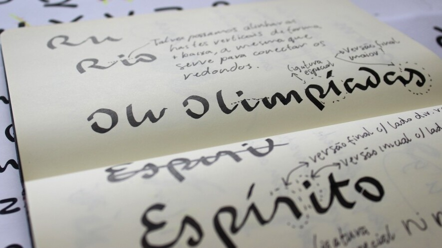 Check out the beautiful custom typeface for the Rio 2016 Olympics