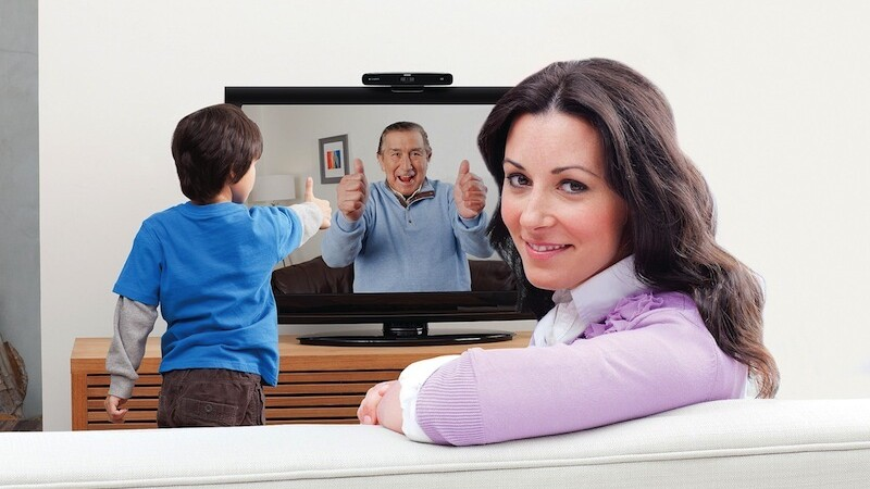 Say hi to Mom on the big screen with Logitech's new HD Skype camera for TVs