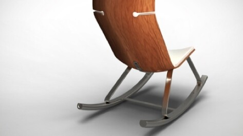 This stylish rocking chair uses your movement to charge your gadgets