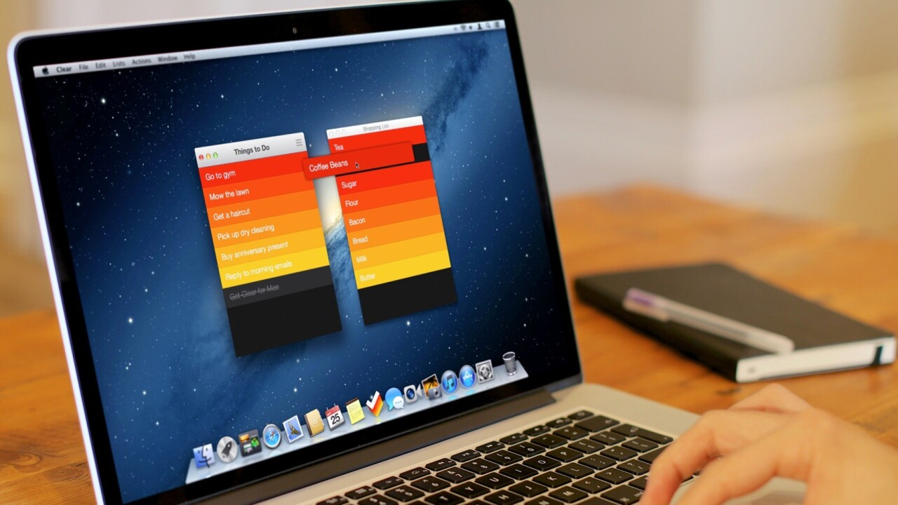 The delightful gesture-based list app Clear is coming to the Mac, with iCloud syncing to iPhone