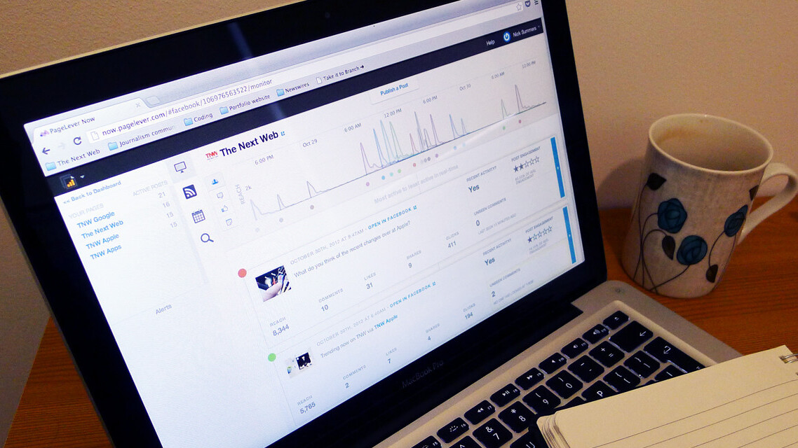 PageLever updates its Facebook analytics app with real-time data, post scheduling and page management