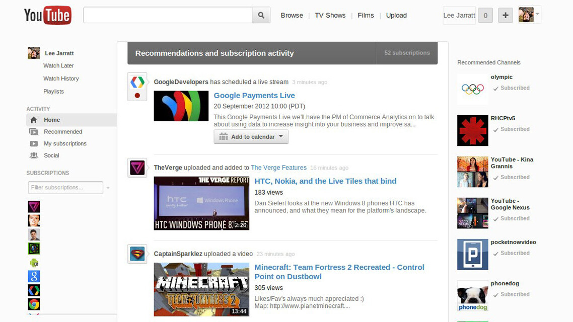 YouTube hints at a cleaner, simpler redesign that closely resembles Google+