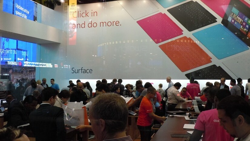 """Microsoft: """"We've welcomed more than 15 million customers"""" to our stores thus far"""