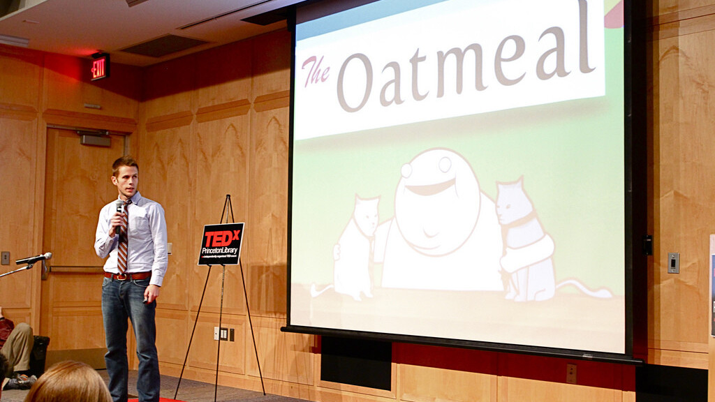 The Oatmeal webcomic is being sued by greeting cards company Oatmeal Studios