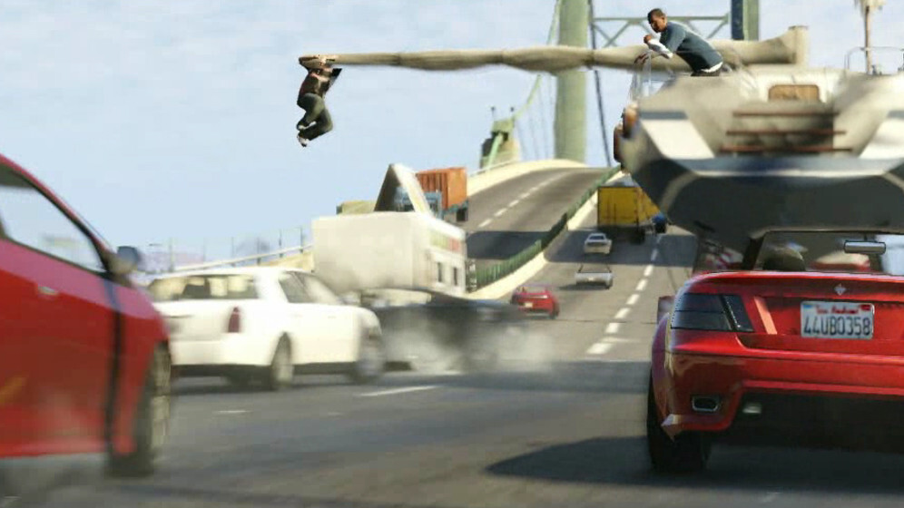 Rockstar's second GTA V trailer shows off three lead characters and explosive open world gameplay