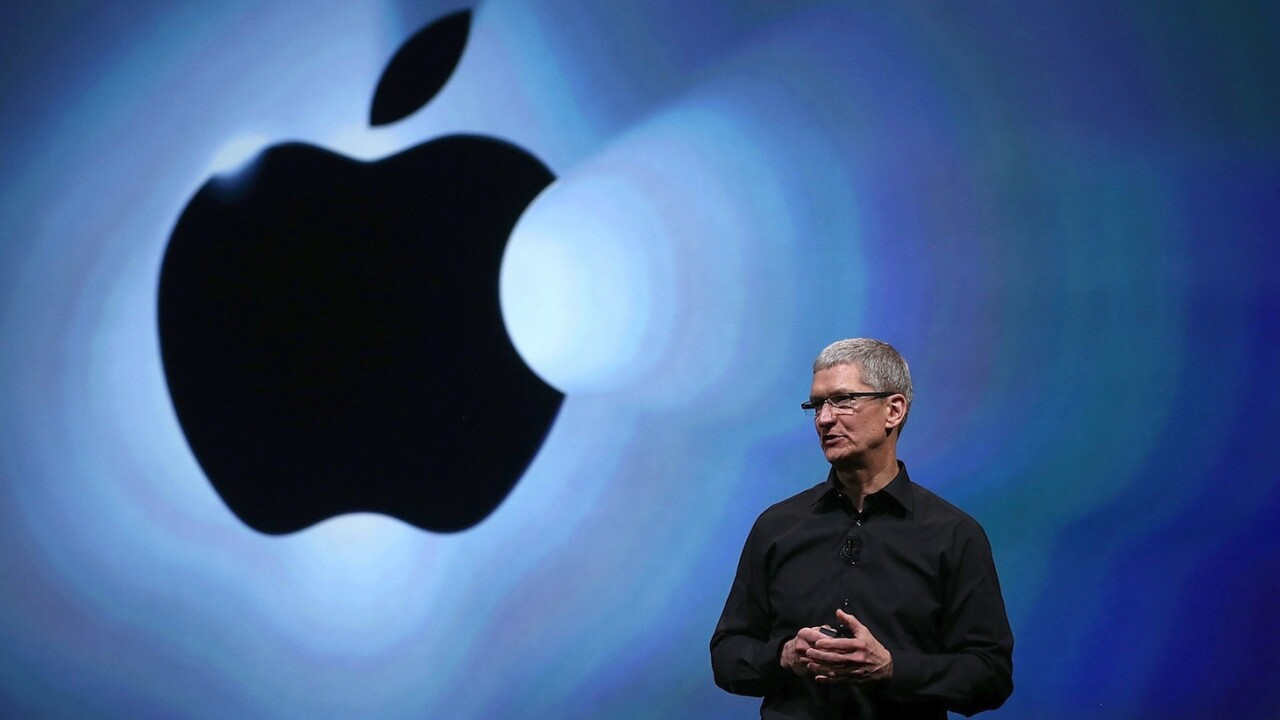 Apple CEO Tim Cook's compensation totaled less than $4.2m in 2012, down from $378m last year