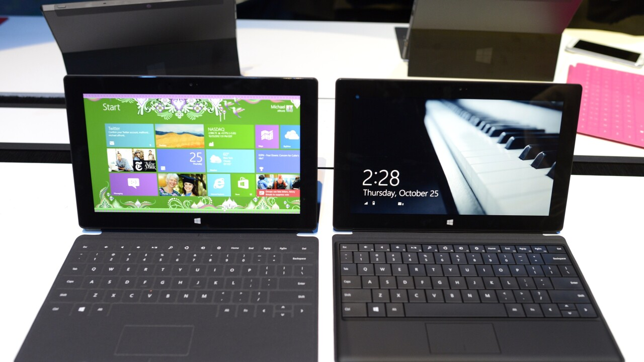 Christmas retail checks show Microsoft Surface demand modest compared to iPad and Kindle Fire