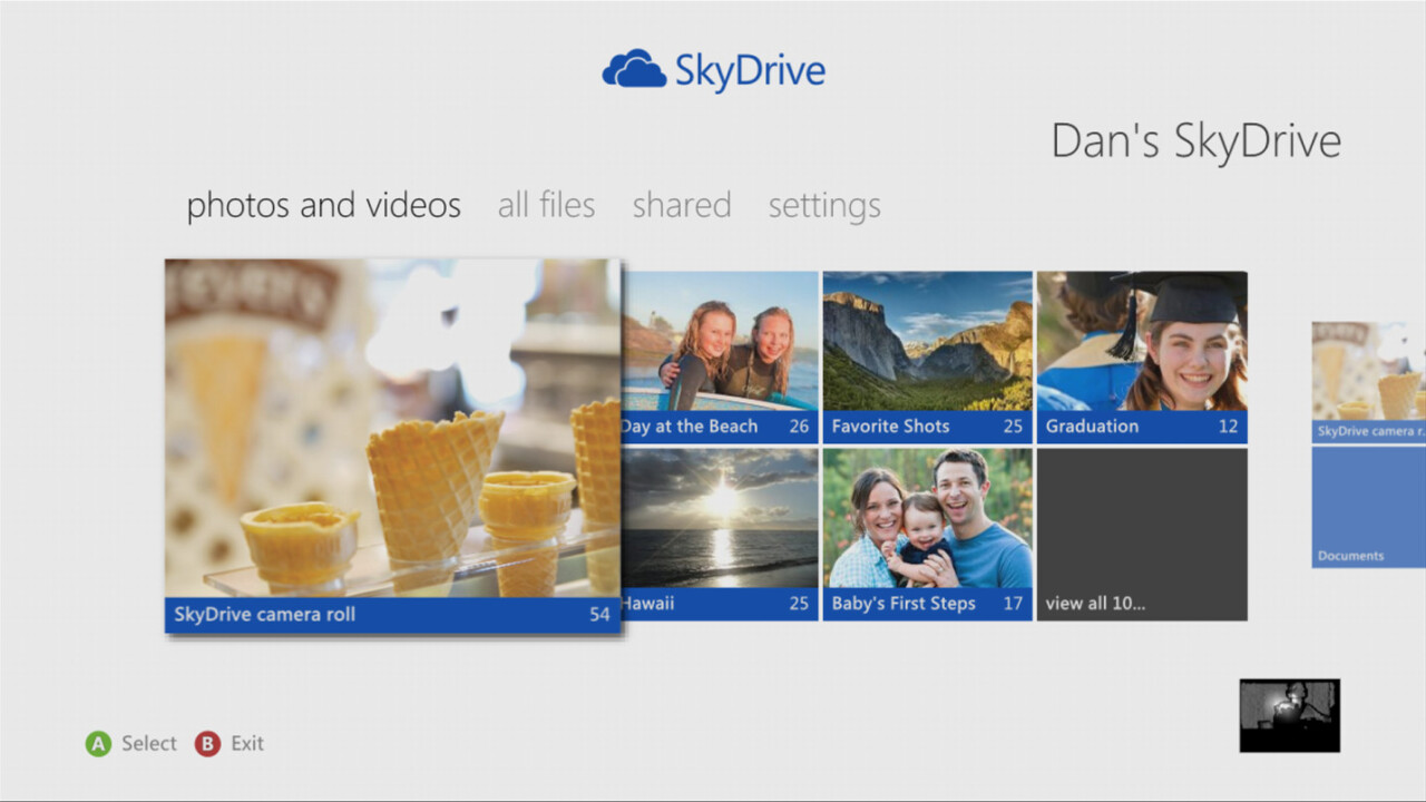 Microsoft's Skydrive app for Xbox 360 available later today, as 40 new apps come to the console